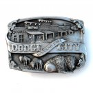 Kansas 1984 Dodge City Siskiyou 3D Pewter Belt Buckle
