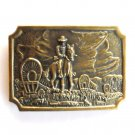 Western Cowboy Trail Boss Brass belt buckle