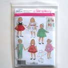 Doll Wardrobe Simplicity Sewing Pattern 2454