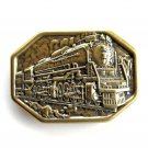 Western Iron Horse Brass belt buckle