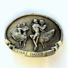 Square Dance LTD 377 Arroyo Grande Pewter Vintage Belt Buckle