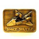 Space Shuttle 3D 1980 Brass Color Vintage belt buckle
