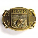 Bass Anglers Sportsman Society Brass Great American Buckle Chicago belt buckle