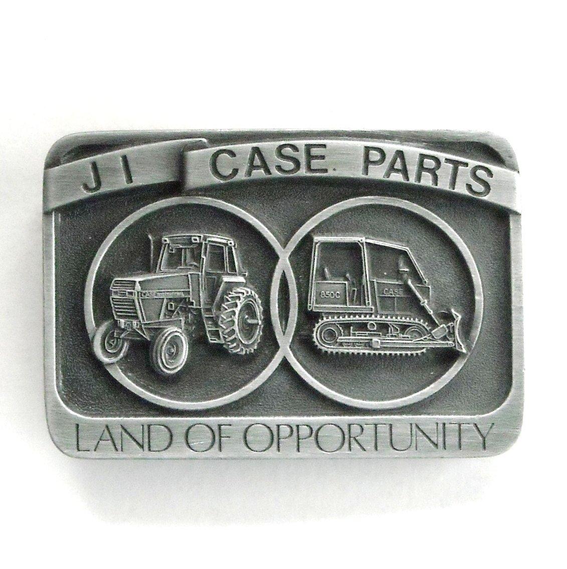 JI Case Parts Land Of Opportunity pewter belt buckle