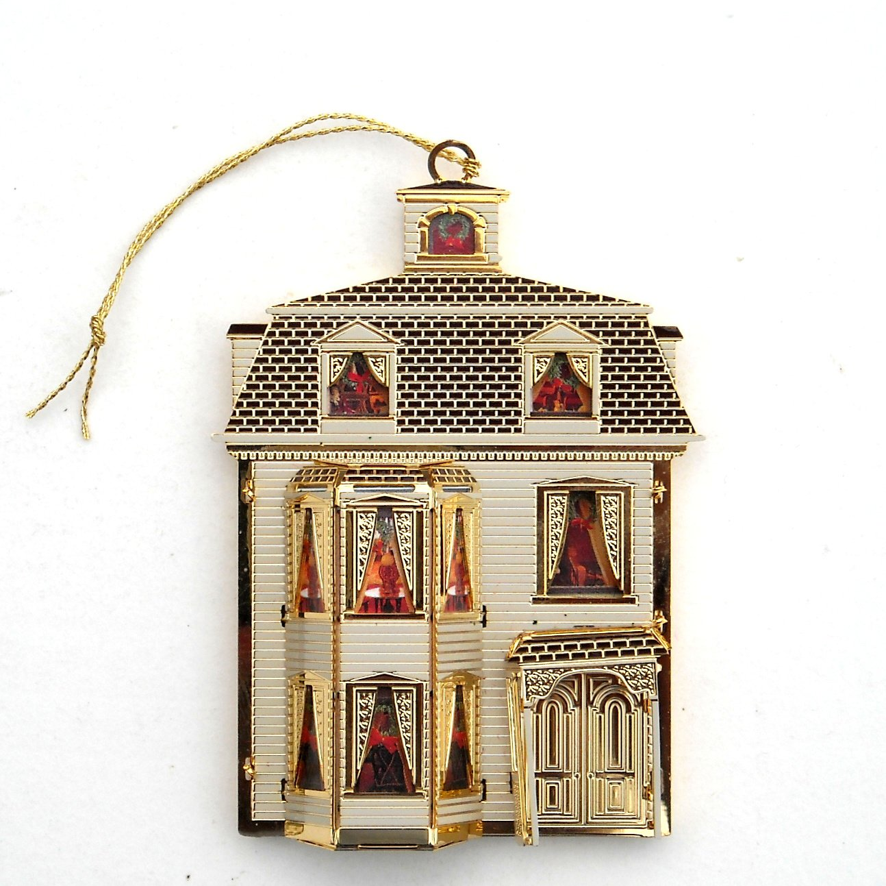 B & G Doll House Collection Gertrudes House 24k Gold Finish Christmas ornament