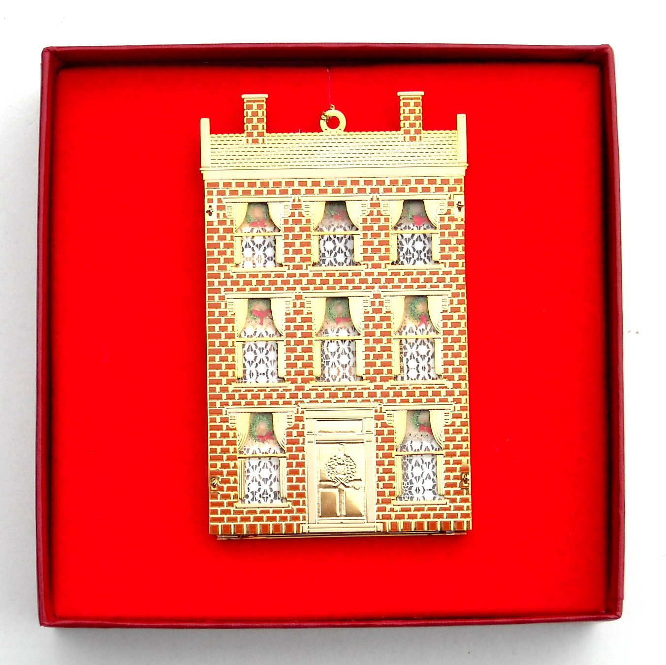 B & G Doll House Collection Lilliput House 24k Gold Finish Christmas ornament