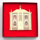 B & G Doll House Collection Victorian Gothic House 24k Gold Finish Christmas ornament