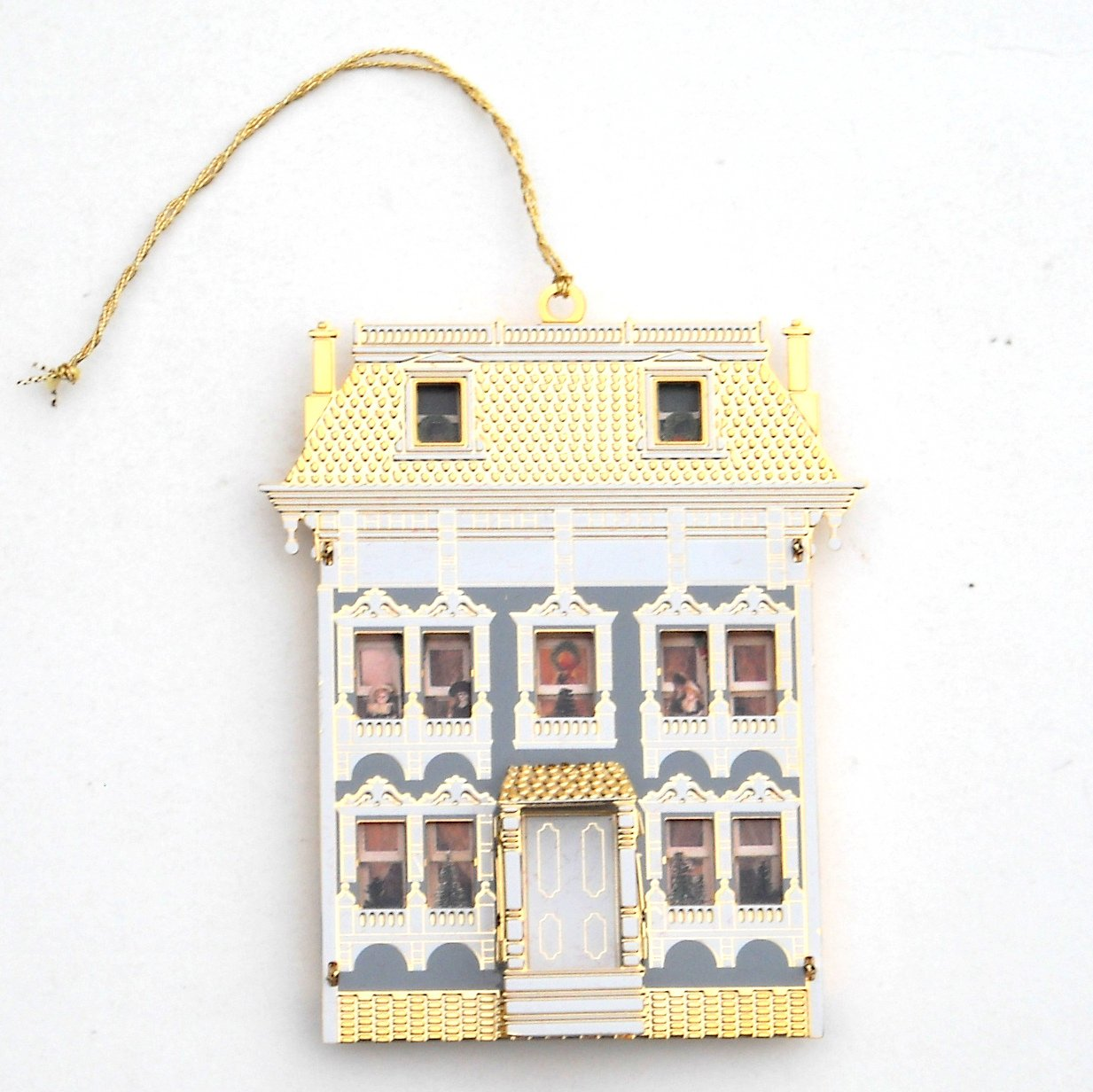 Bing & Grondahl Doll House Collection Dibb House 24k Gold Finish Christmas Ornament