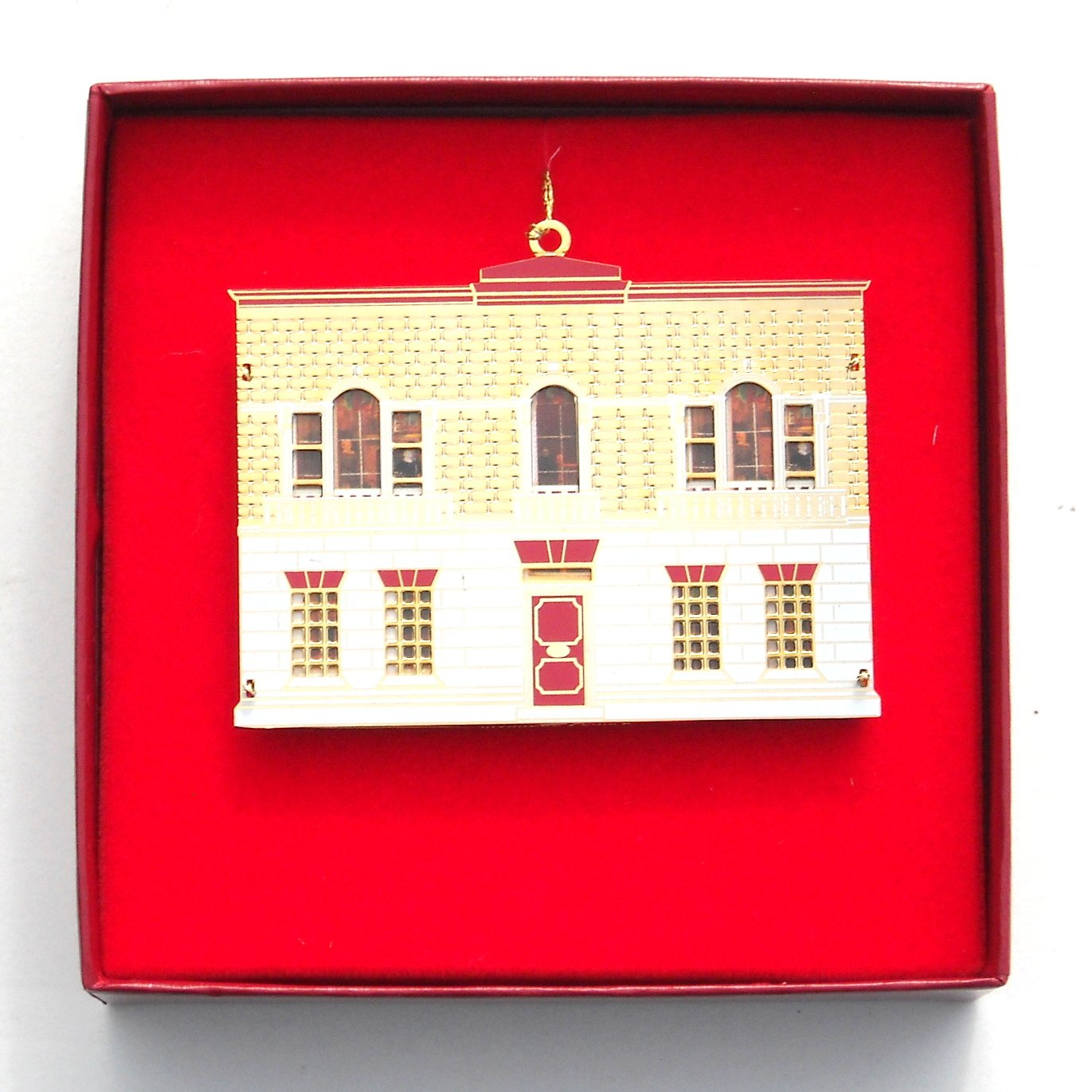 Palladian Doll House Collection Bing & Grondahl 24k Gold Finish Christmas ornament