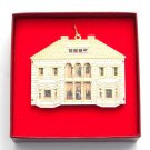 Circa 1910 Eclectic Doll House Collection Bing & Grondahl 24k Gold Finish Christmas ornament