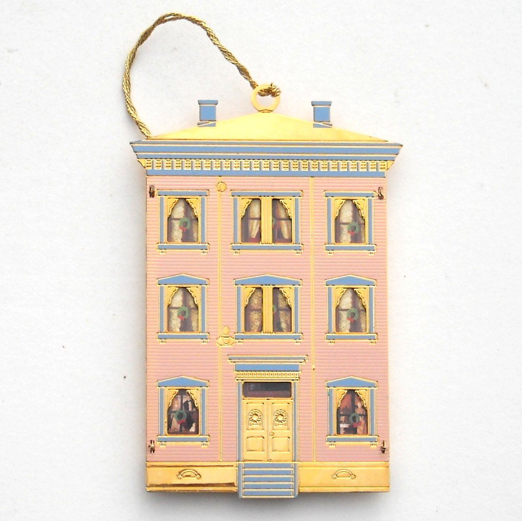 Somerville Doll House Collection Bing Grondahl 24k Gold Finish Christmas Ornament