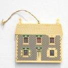 English Victorian Doll House Bing Grondahl 24k Gold Finish Christmas Ornament