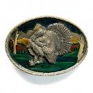 Wild Turkey 3D Great American Buckle Brass belt buckle