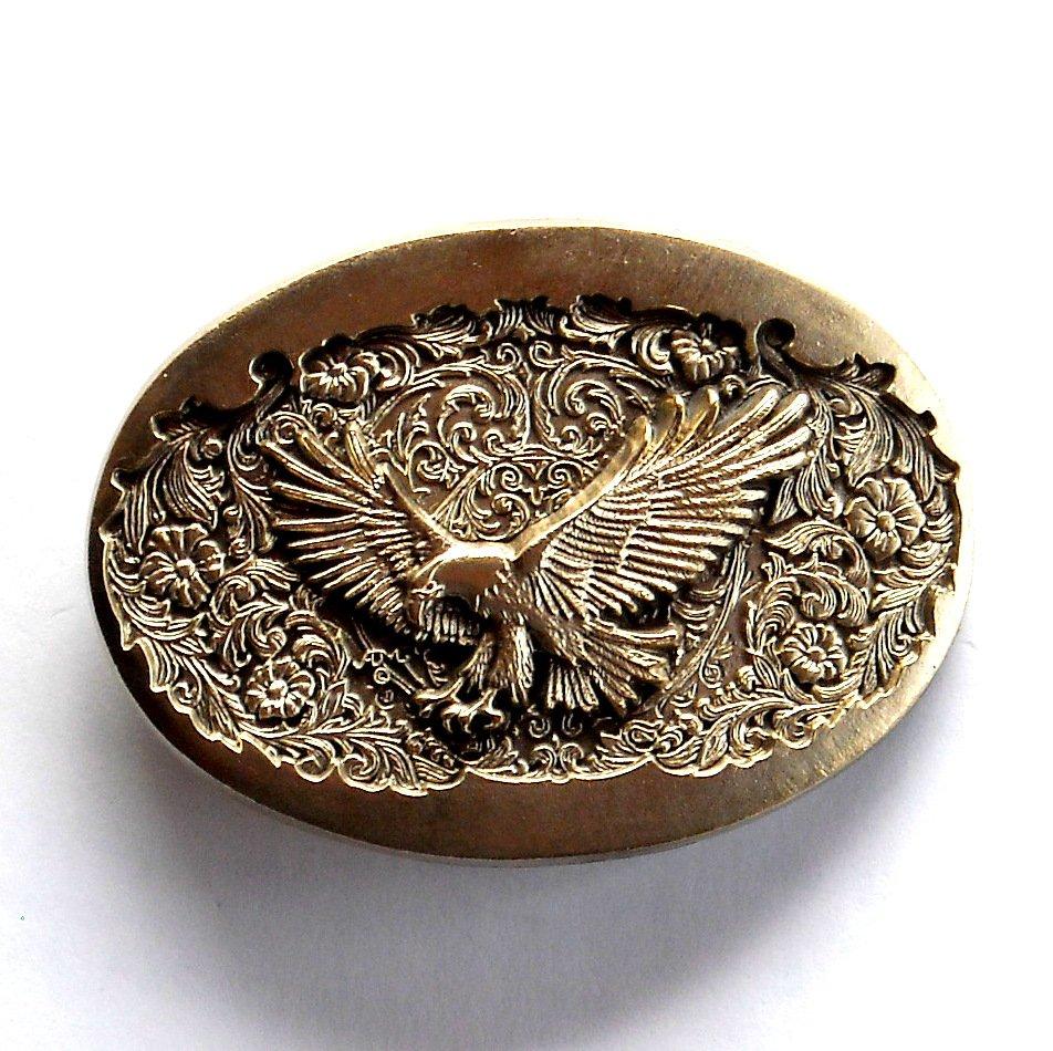 American Bald Eagle Vintage Montana Silversmiths Brass Standard Belt Buckle