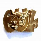 Raging Bull Vintage Award Design Brass Belt Buckle