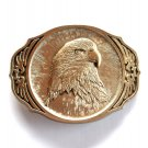 American Bald Eagle Vintage Award Design Brass Belt Buckle