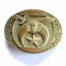 Masons Shriners Jewel of the Order Vintage Montana Silversmiths Brass Belt Buckle