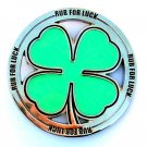 St Patricks Day Rub For Luck Irish Four Leaf Clover Shamrock Belt Buckle