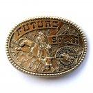 Professional Bull Riders Future Star Vintage Solid Brass Award Design Belt Buckle