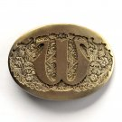 Letter W Initial Monogram Western Style Award Design Solid Brass Small Belt Buckle