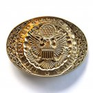 United States Of America Seal Vintage Award Design Solid Brass Belt Buckle