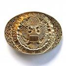 United States Of America Seal Vintage Award Design Solid Brass Belt Buckle