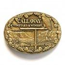Callaway Vineyard Winery Award Design Solid Brass Belt Buckle