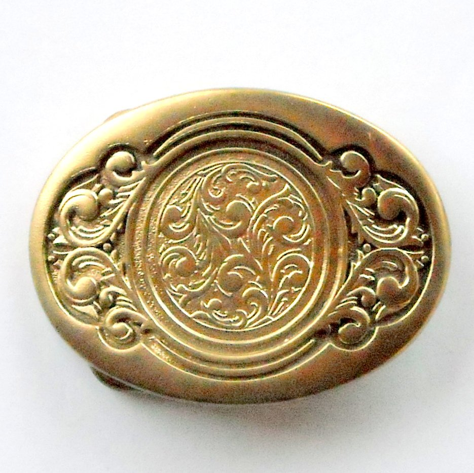 O C Tanner Award Design American Made Solid Brass Standard Small Belt Buckle