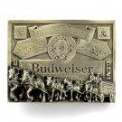 Budweiser King Of Beers Vintage GAB 3D Pewter Belt Buckle