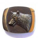 Lone Wolf 3D Vintage Steven L Knight Bronze Belt Buckle