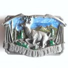 Bow Hunting Deer Siskiyou 3D Pewter Belt Buckle