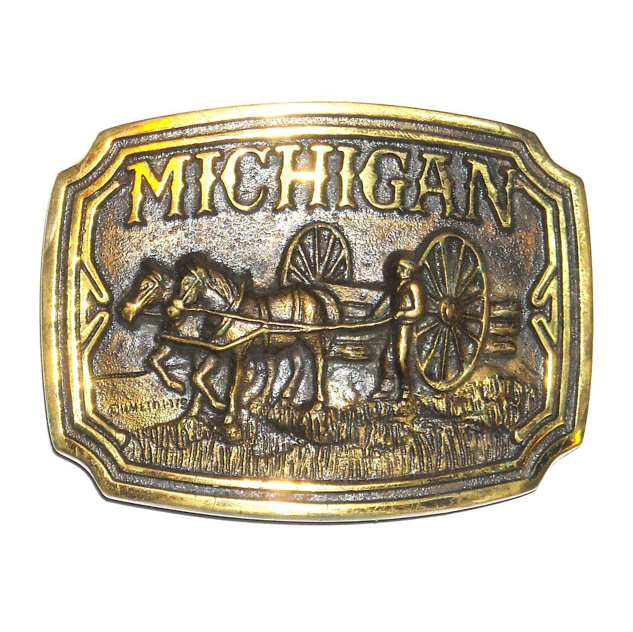 Michigan 3D Vintage Limited Edition 3055 Heritage Mint Belt Buckle