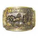 Michigan 3D Vintage Limited Edition 3055 Heritage Mint Belt Buckle