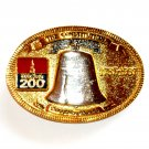 United States Liberty Bell 24K Gold Plated Made In USA Belt Buckle