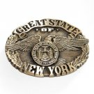 Great State Of New York Award Design Solid Brass First Edition Belt Buckle