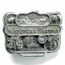 Mississippi Farmer 3D Pewter Alloy Vintage Belt Buckle