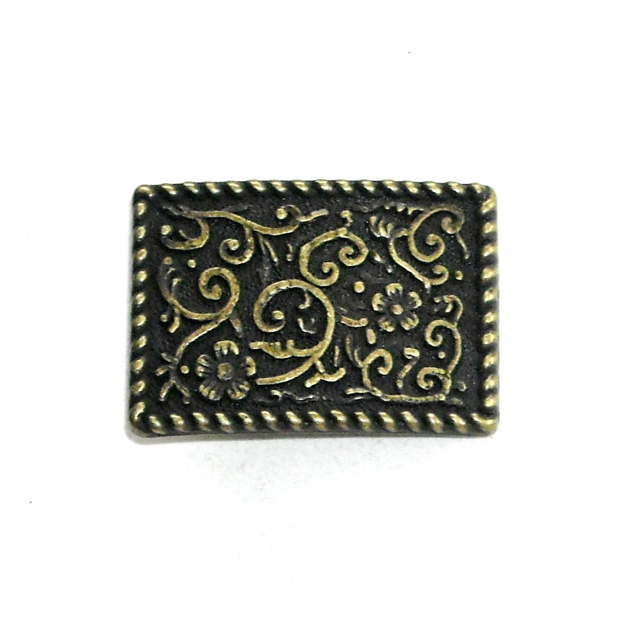 Flower Filigree Brass Color Standard Small Buckle for 1 Inch Belt
