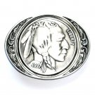 Indian Head 1937 Nickel Siskiyou Pewter Belt Buckle
