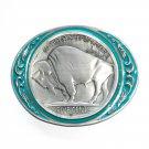Buffalo Nickel Five Cents Siskiyou Pewter Belt Buckle
