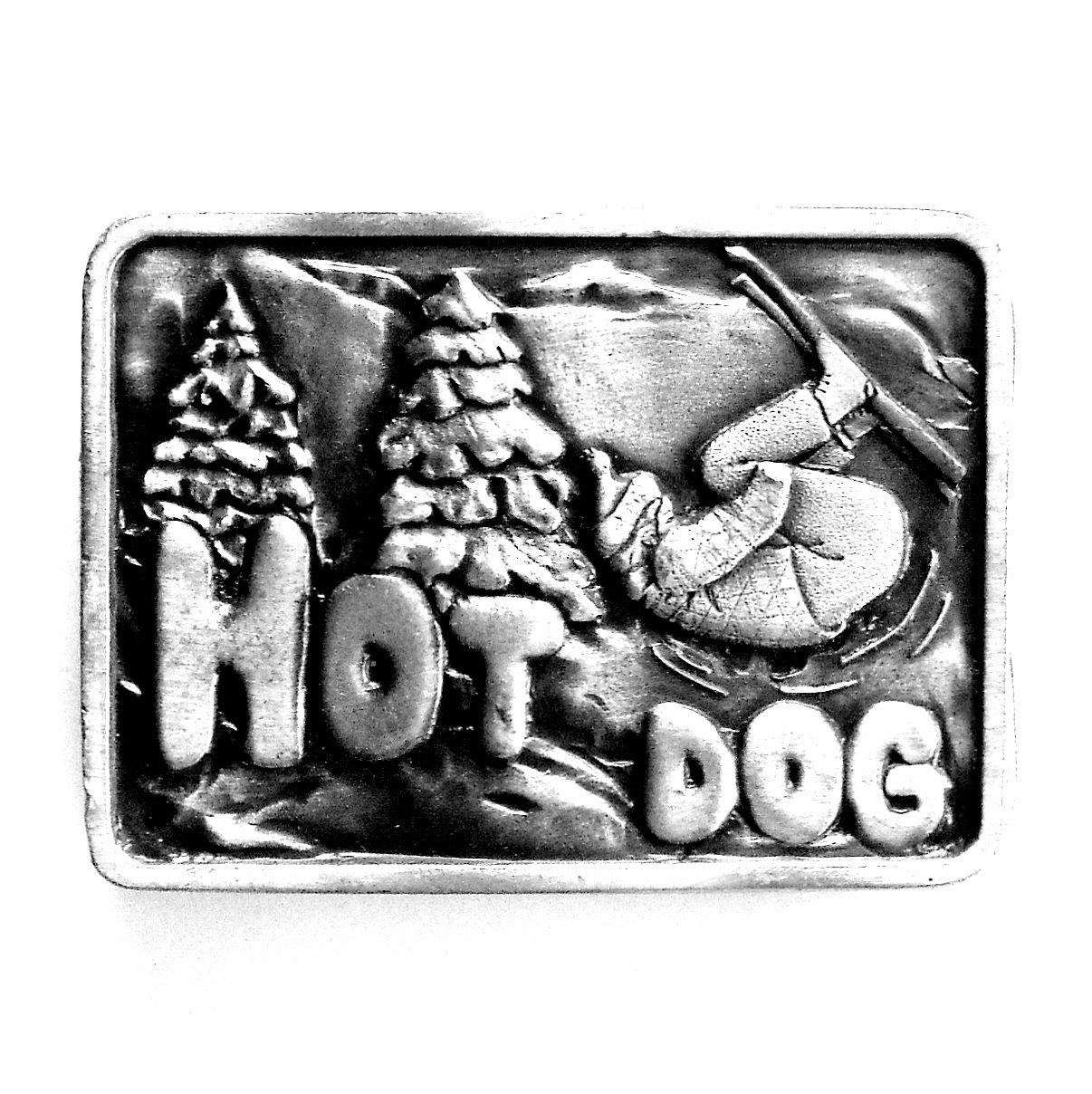Hot Dog Vintage Bergamot Pewter Belt Buckle