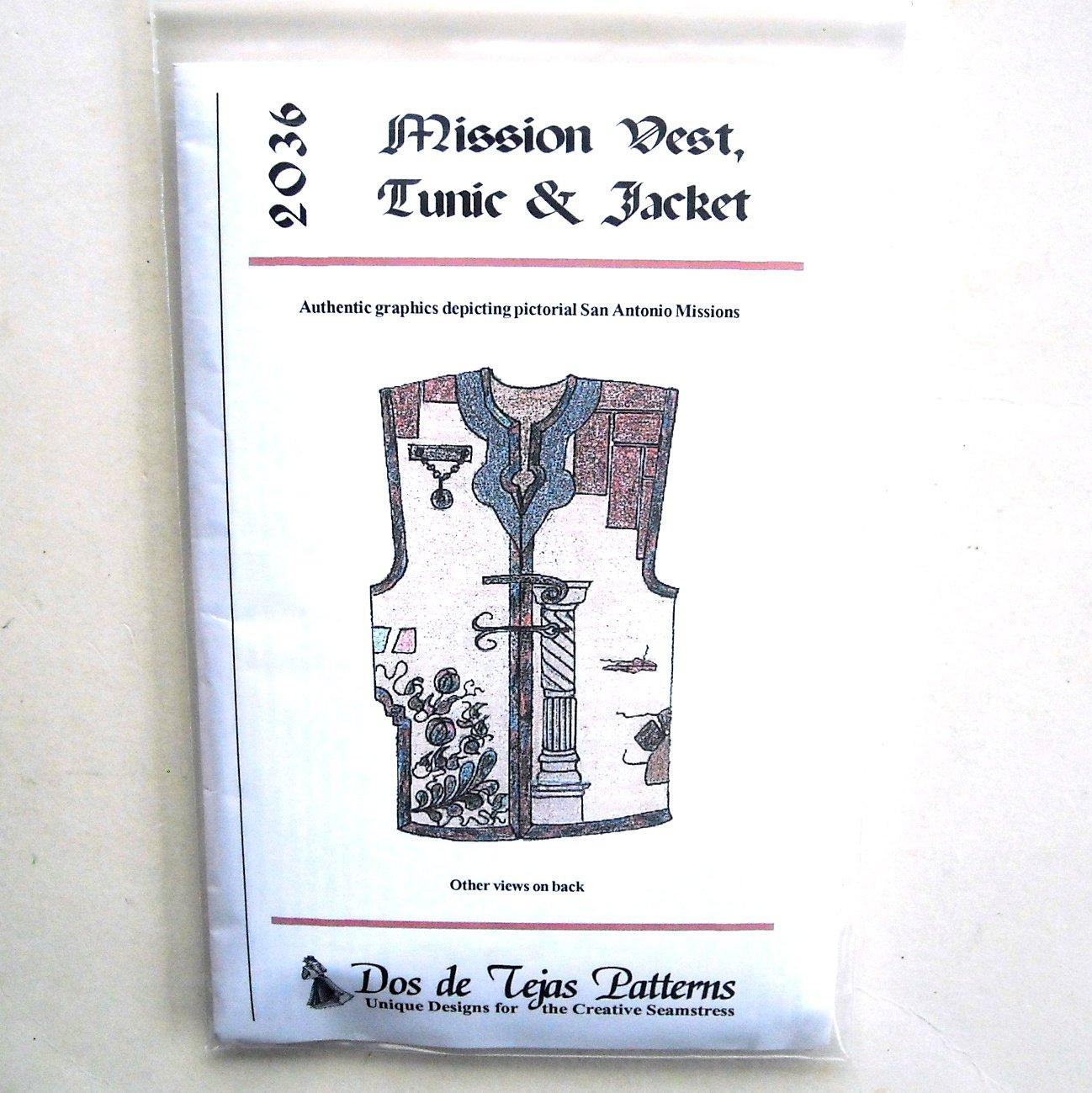Mission Vest Dos De Tejas Sewing Pattern 2036