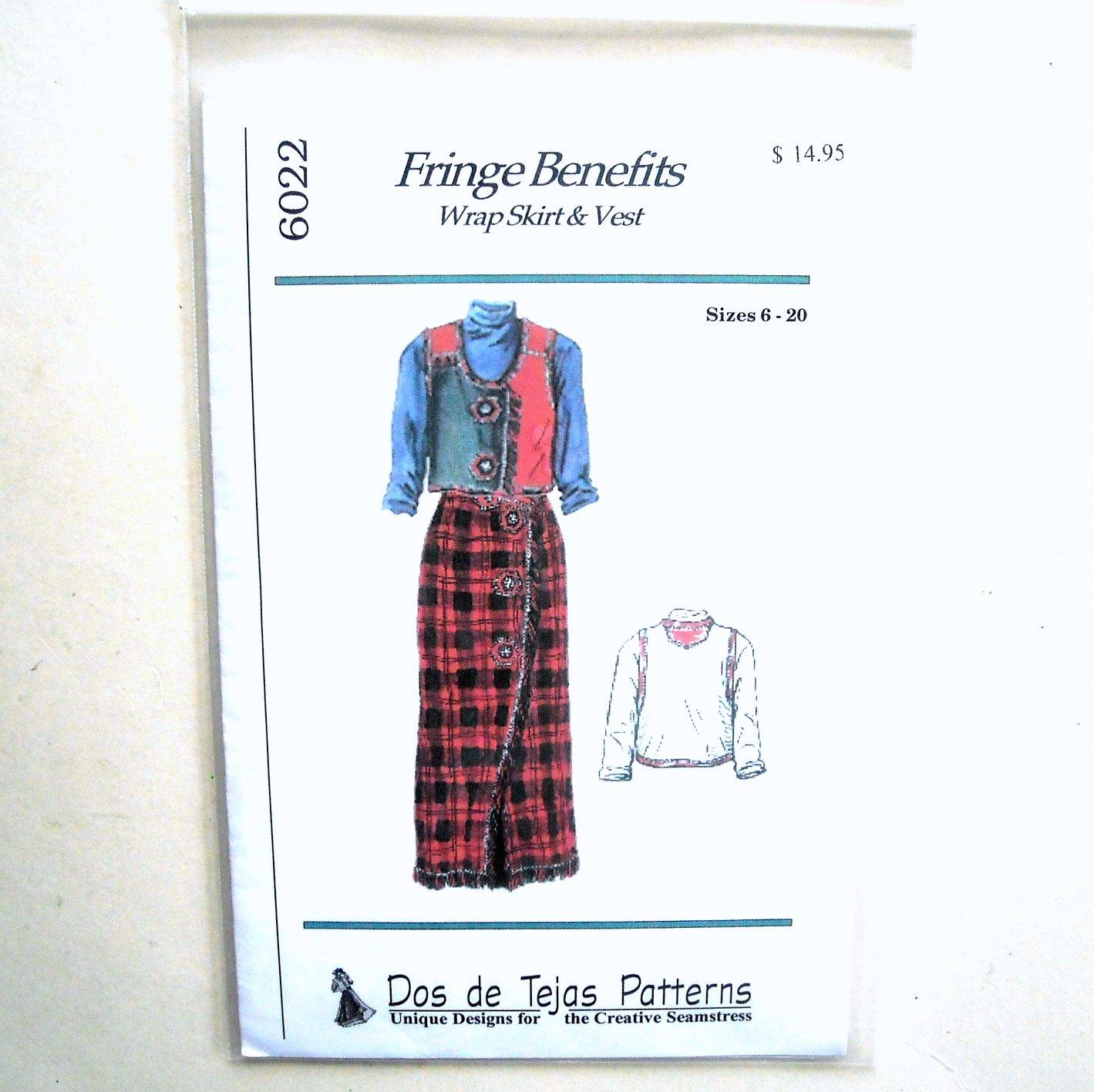 Misses Wrap Skirt Vest Dos De Tejas Sewing Pattern 6022