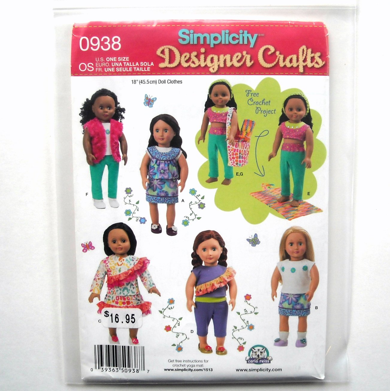 Doll Clothes Bag Simplicity Sewing Pattern 0938