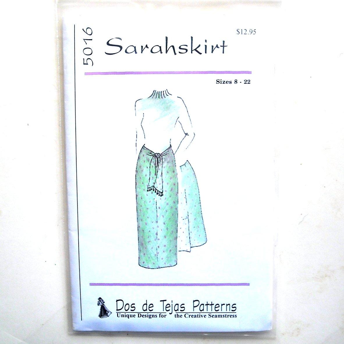Miss Sarah Casual Skirt Dos De Tejas Sewing Pattern 5016