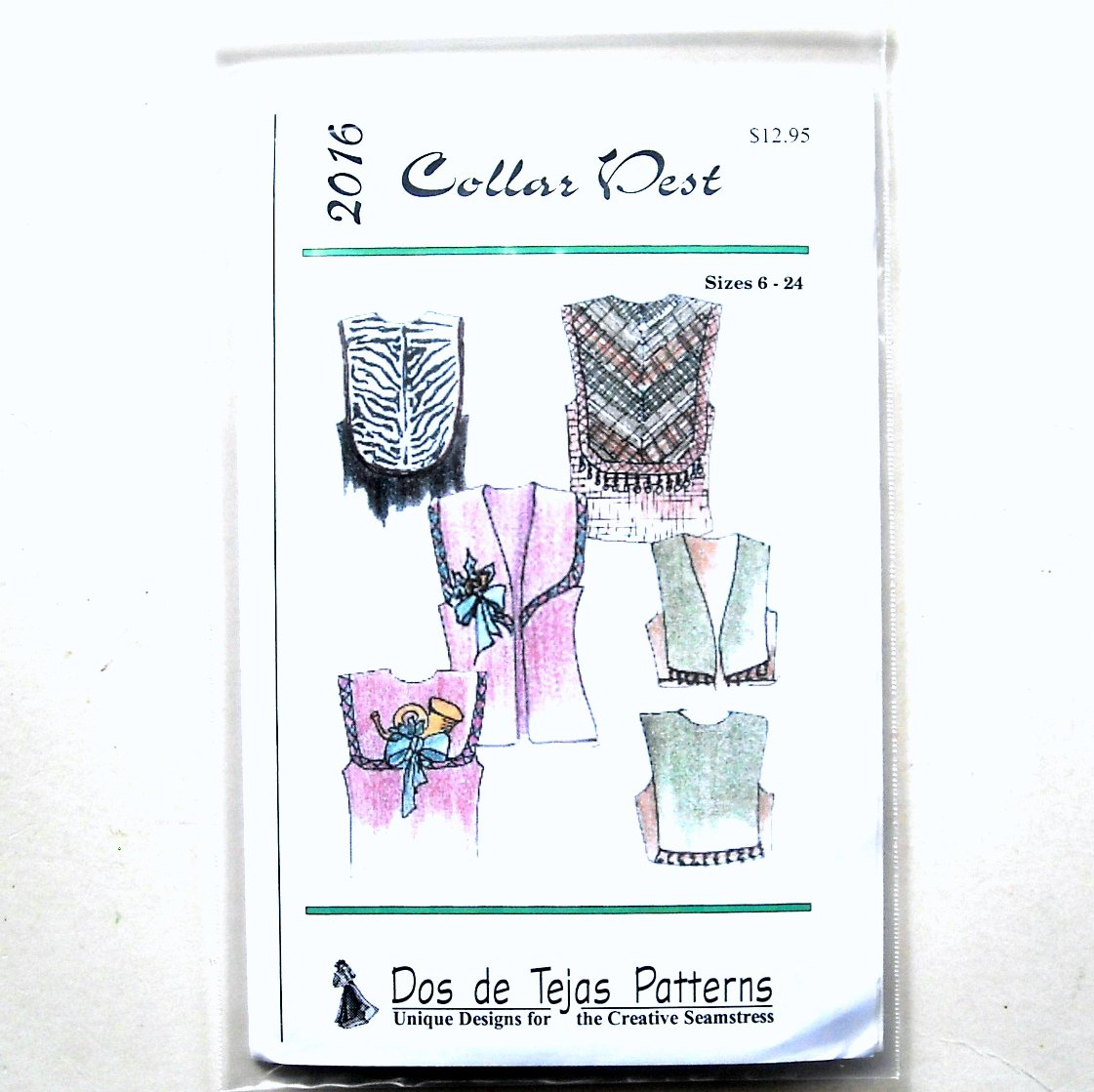 Misses Collar Vest Dos De Tejas Sewing Pattern 2016