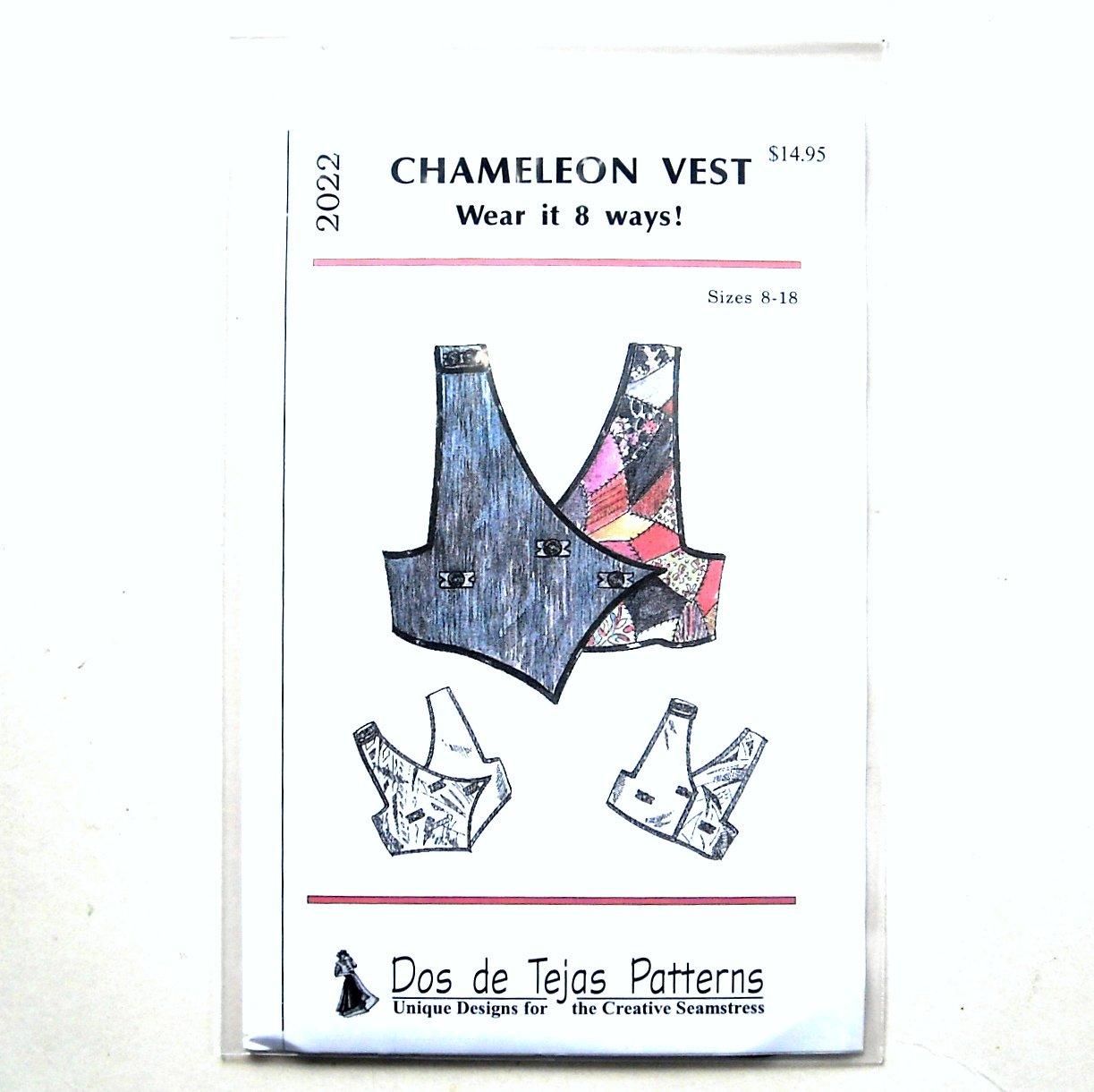 Misses Chameleon Vest Dos De Tejas Sewing Pattern 2022