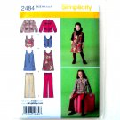 Girls Separates Jumper Vest Jacket Pants Simplicity Sewing Pattern 2484