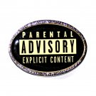 Parental Advisory Explicit Content Comics Symbol Belt Buckle
