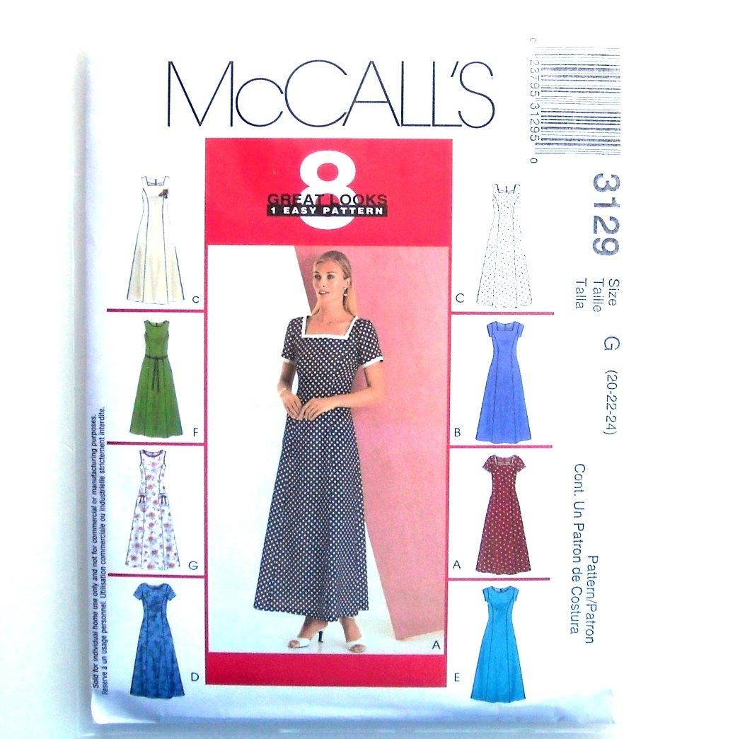 Misses Miss Petite 8 Great Looks Dresses McCalls Sewing Pattern M3129