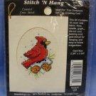 Cross Stitch Mini Kit - Christmas Cardinal
